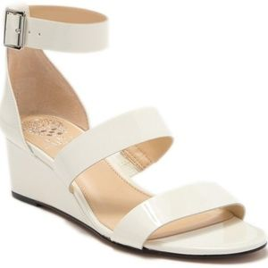 Vince Camuto sandals white wedge brand new